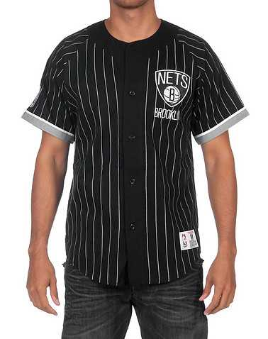 MITCHELL AND NESS MENS Black Clothing / Button Down Shirts M