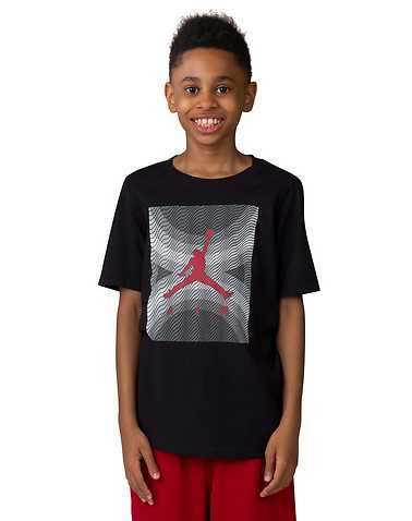 JORDAN BOYS Black Clothing / Short Sleeve T-Shirts L