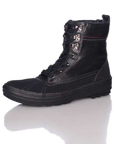TOMMY HILFIGER MENS Black Footwear / Boots