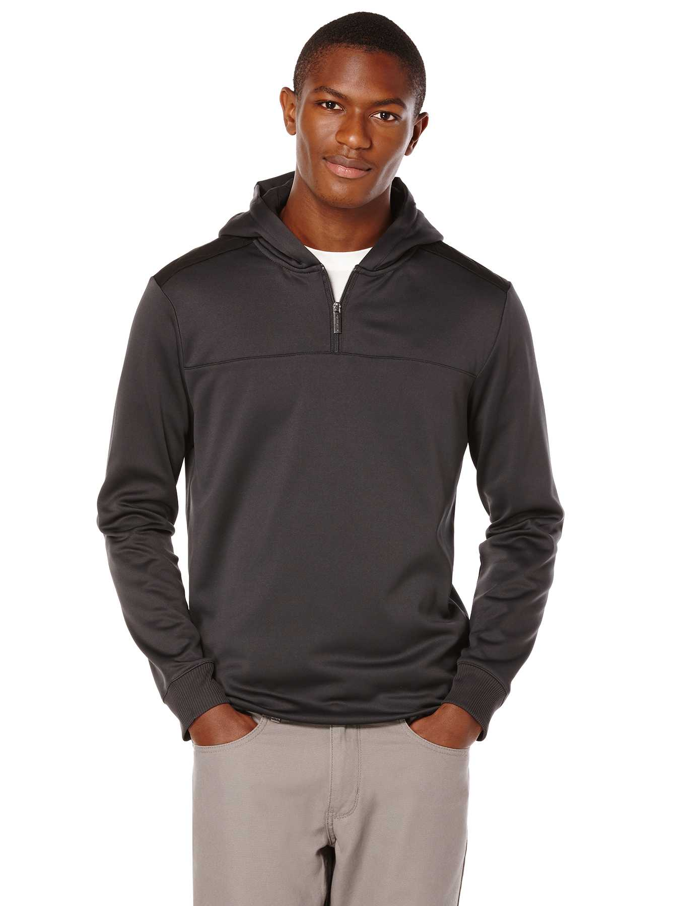 Perry Ellis Quilted Quarter Zip Jacket