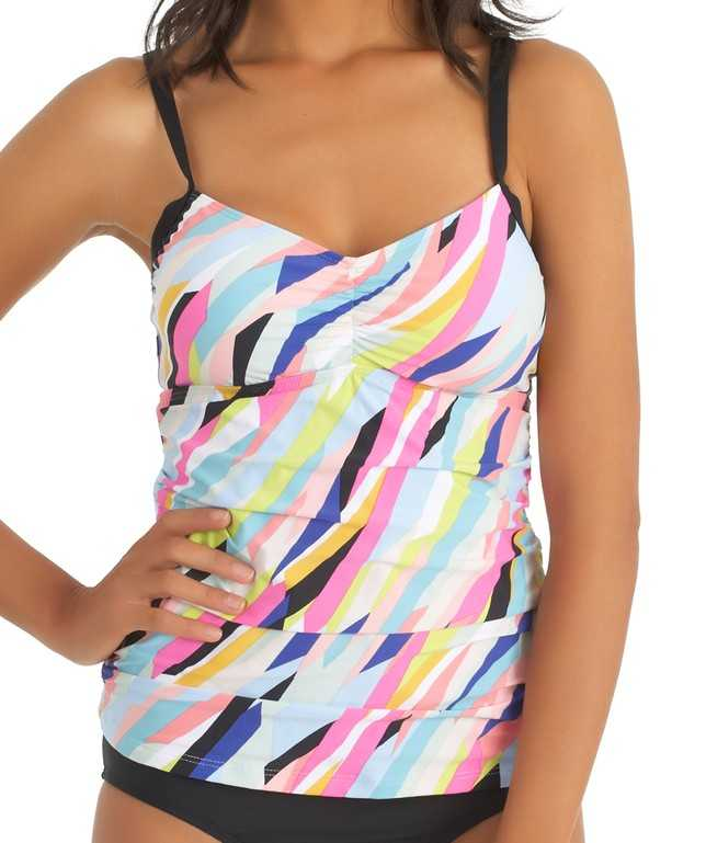 Rio Strapped Tankini Top Color Multi Size