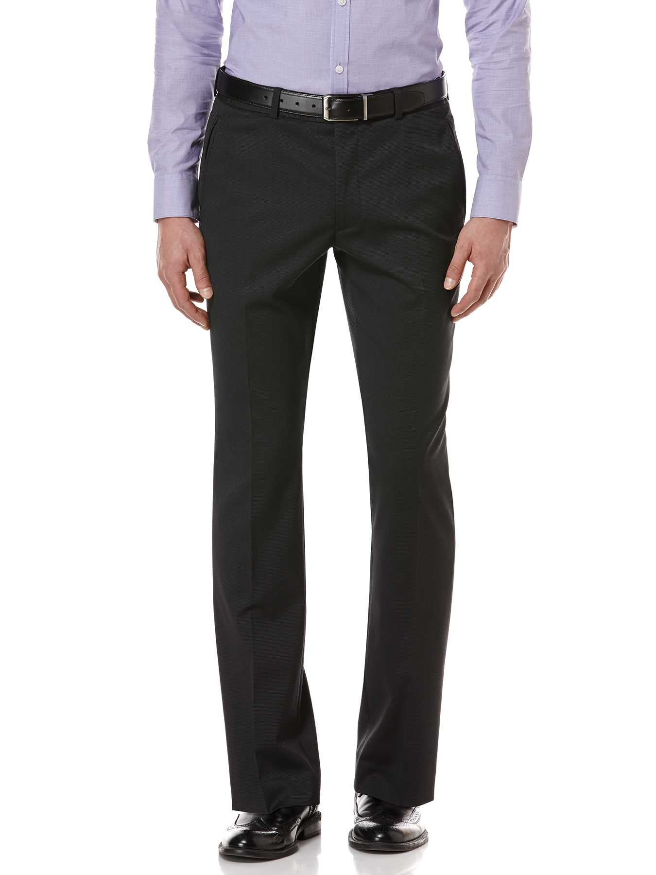 Perry Ellis Black Pindot Suit Pant