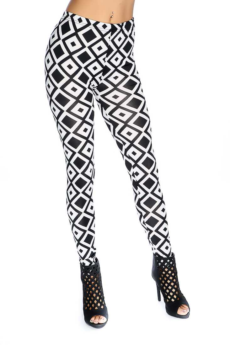 Geometric Pattern Casual Leggings