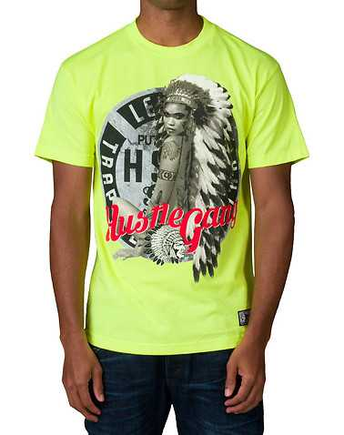 HUSTLE GANG MENS Green Clothing / Tops