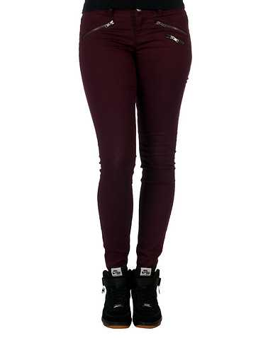 VANILLA STAR WOMENS Burgundy Clothing / Bottoms