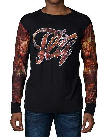 FLY SOCIETY MENS Black Clothing / Tops