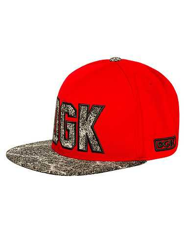 DGK MENS Red Accessories / Caps Snapback One Size