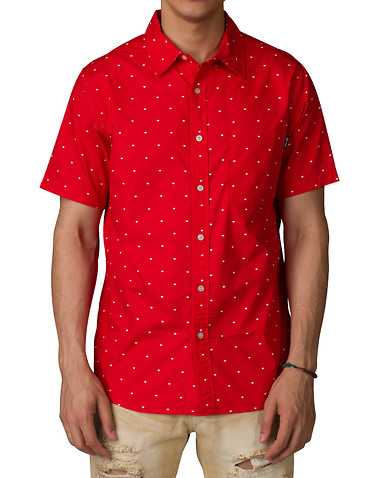 DIAMOND SUPPLY COMPANY MENS Red Clothing / Button Down Shirts XL
