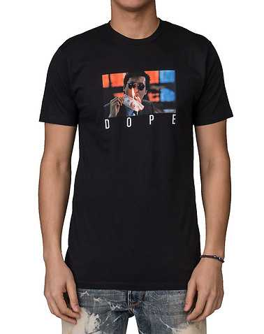 DOPE MENS Black Clothing / Tops S