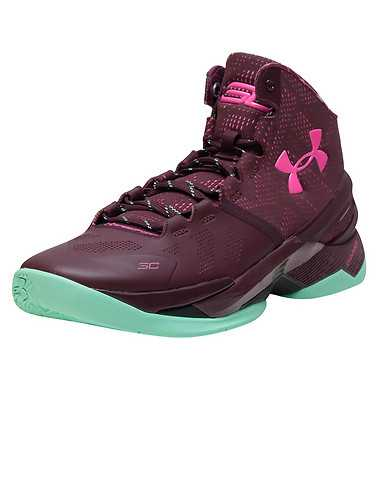 UNDER ARMOUR MENS Burgundy Footwear / Sneakers
