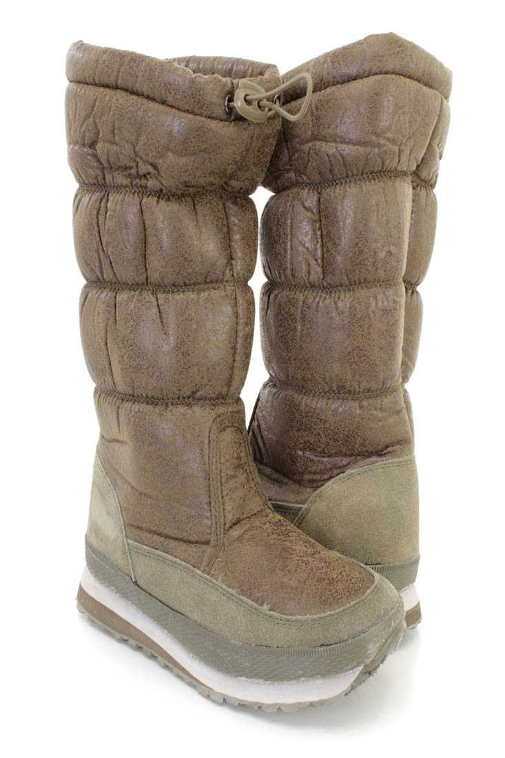 Khali Quilted Traction Sole Snow Boots Nylon