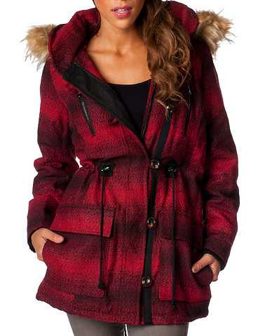 STEVEADDEN WOMENS Red Clothing / Heavy Jackets
