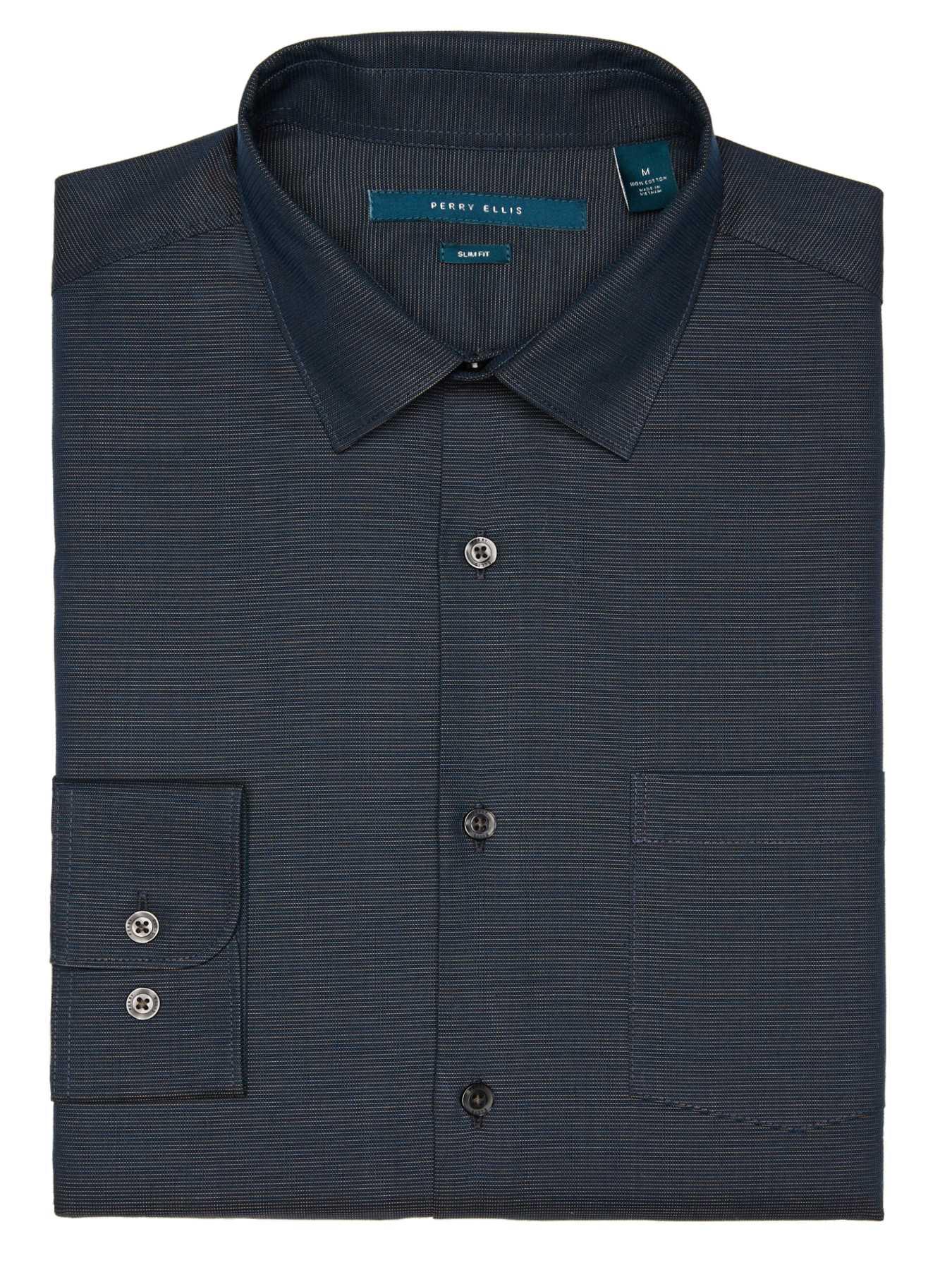 Perry Ellis Big and Tall Fine Horizontal Stripe Shirt