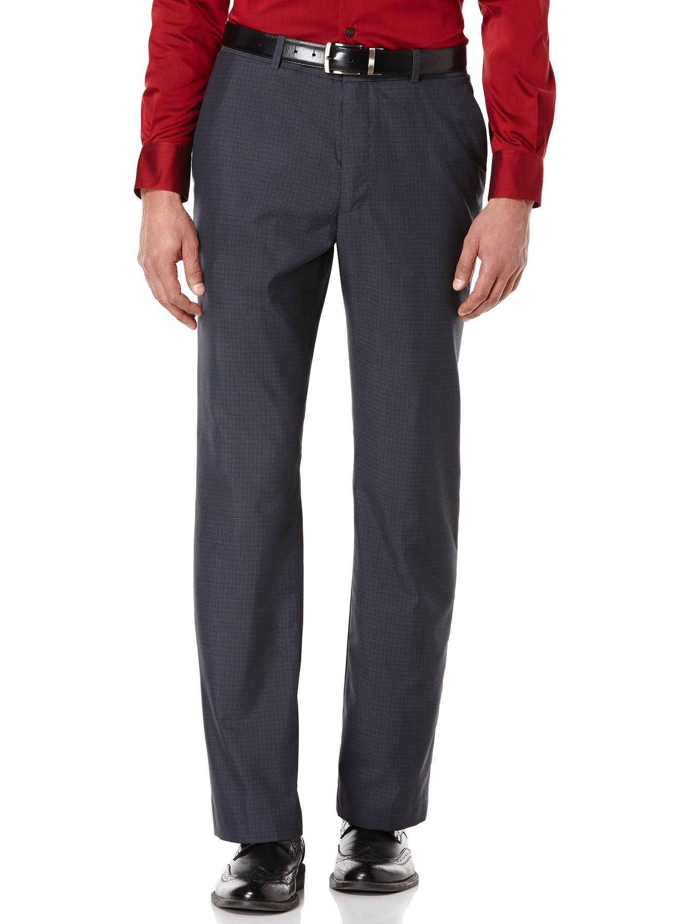 Perry Ellis Tonal Mini Plaid Suit Pant