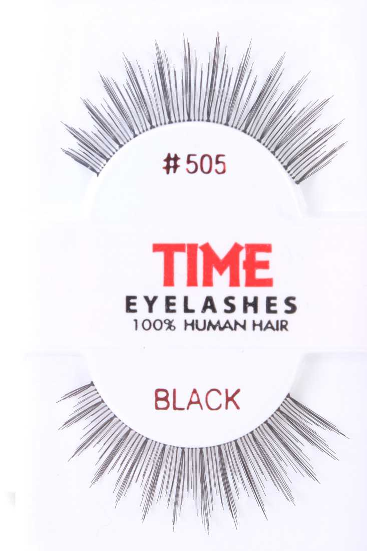 Black Full Long Glamour Human Hair Eyelashes