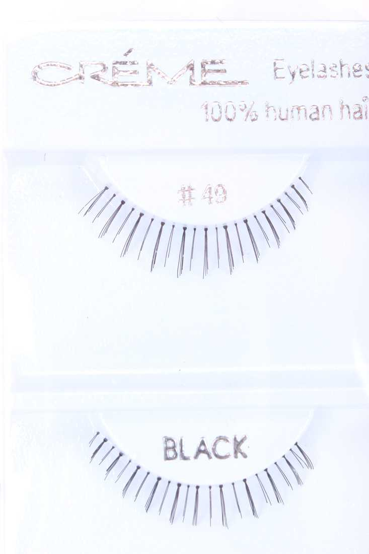 Black Full Lengthening Human Hair Bottom Eyelashes