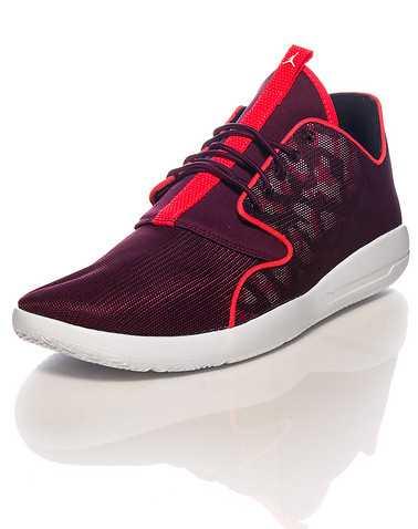 JORDAN MENS Burgundy Footwear / Sneakers