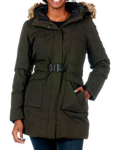 THE NORTH FACE WOMENS Dark Green Clothing / Heavy Jackets S