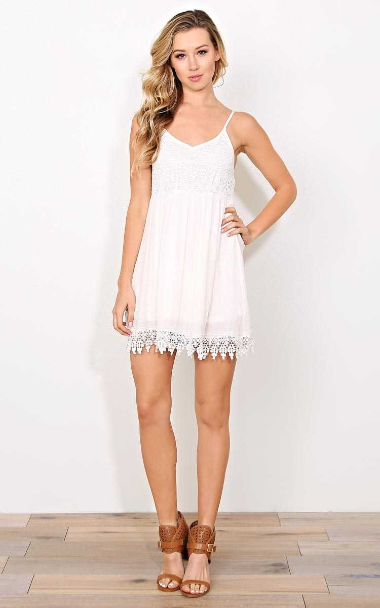 Ivory Last Chance Woven Dress - SML - Ivry/Natrl in Size Small by Styles For Less