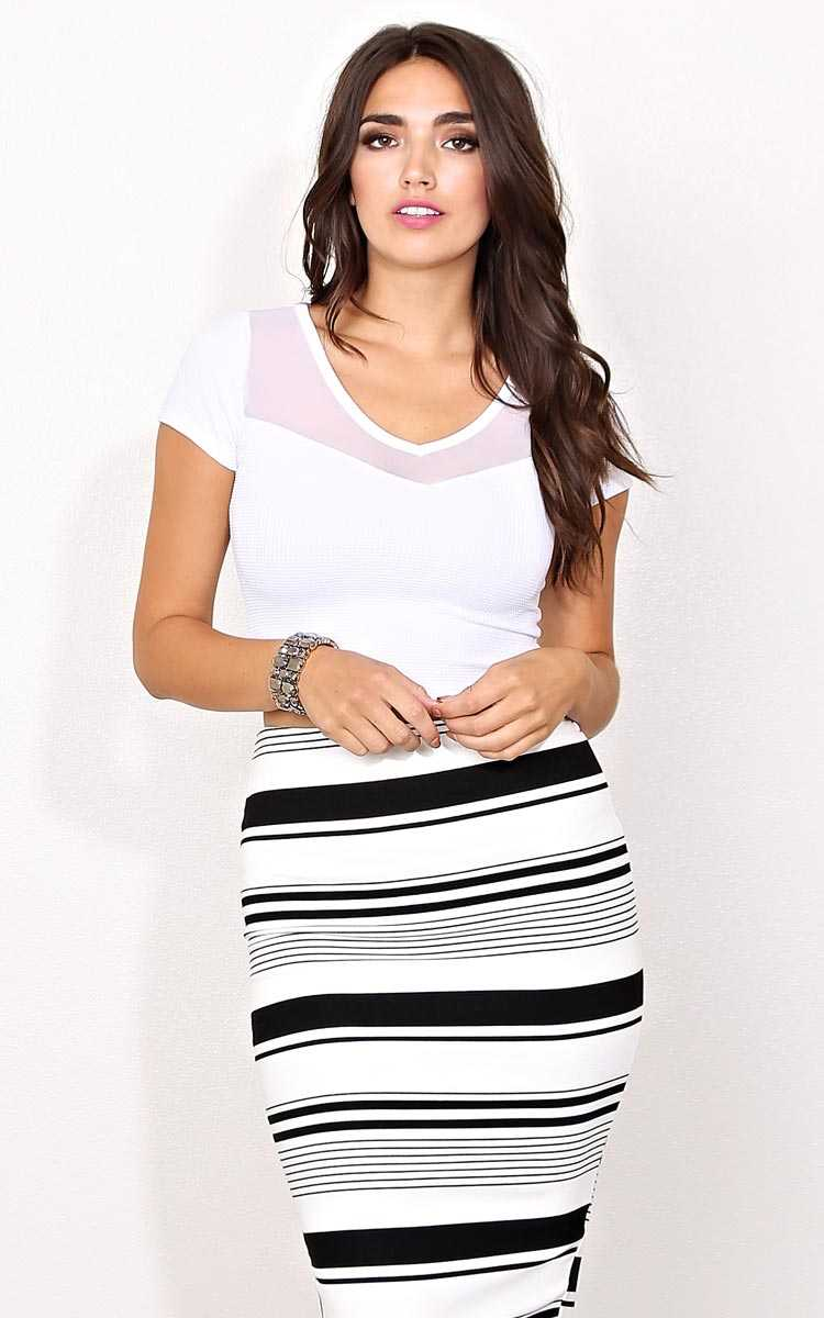 Bozzolo White Ryan Knit Crop Top - - White in Size by Styles For Less