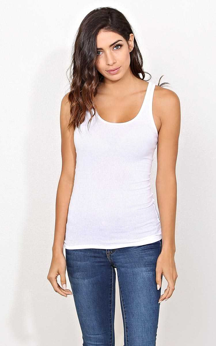 Zenana Outfitters Rib Tank - - in Size by Styles For Less