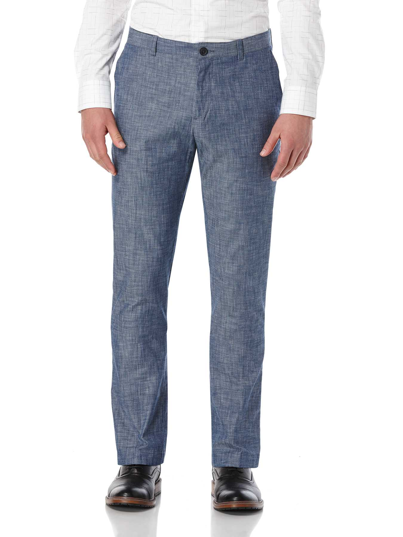 Perry Ellis Slim Fit Denim Chambray Suit Pant