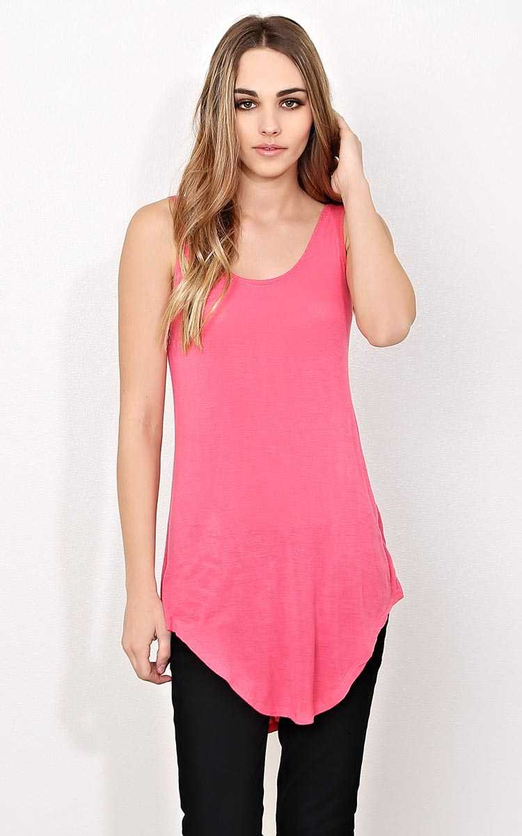 Cool Breeze Knit Tunic - SML - Coral in Size Small by Styles For Less