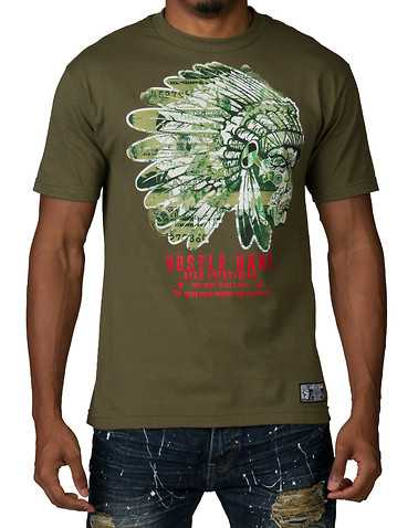 HUSTLE GANG MENS Dark Green Clothing / Tops
